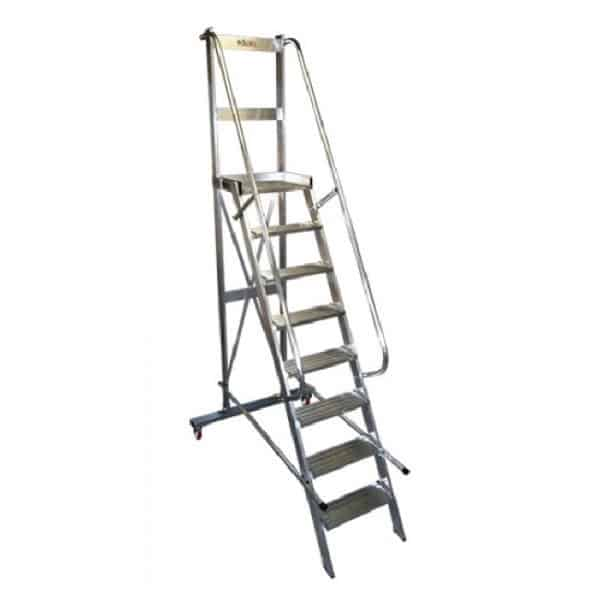 Escalera de almacén con plataforma ALS.