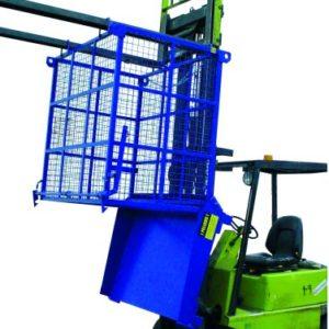 Contenedor descarga inferior con malla para la gestión de residuos